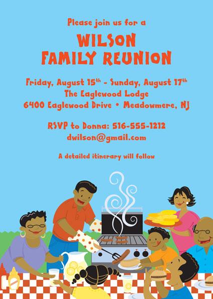 Family Reunion - invitations for family reunion