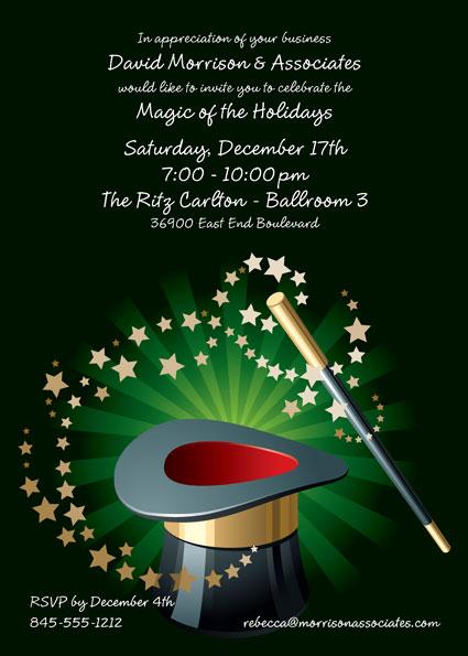 Holiday Magic Invitation