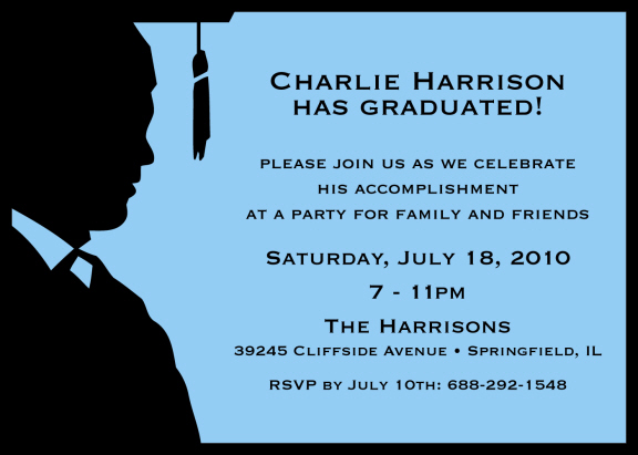 Male Graduation Party Invitations Personalized Graduation Cutouts - graduation party invitations