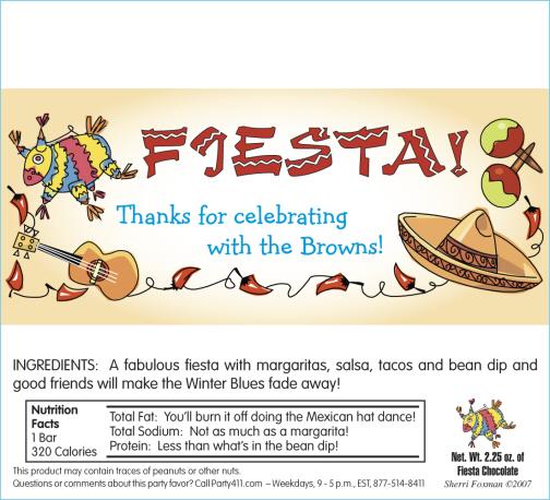 Fiesta Party Invitations Cinco de Mayo Personalized Fiesta Cutouts