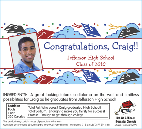 Personalized Graduation Invitations Candy, Graduation Party Favors