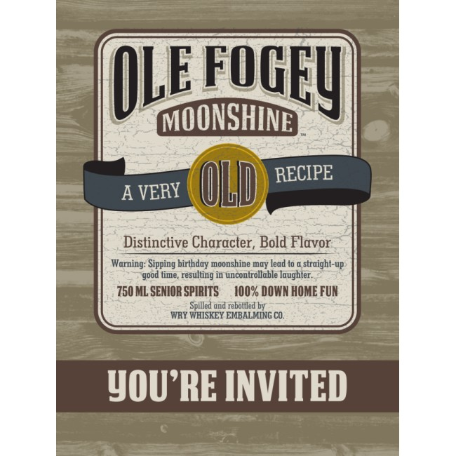 Ole Fogey Postcard Invitations Party at Lewis Elegant Party