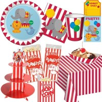 Circus Paper Plates & How-to-make-a-paper-plate-backdrop