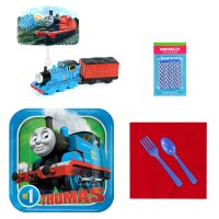 Thomas the Train Tableware and Cake Topper Kit - PartyBell.com