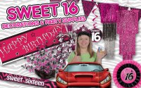Sweet 16 and 16th Birthday Party Supplies & Decorations ...