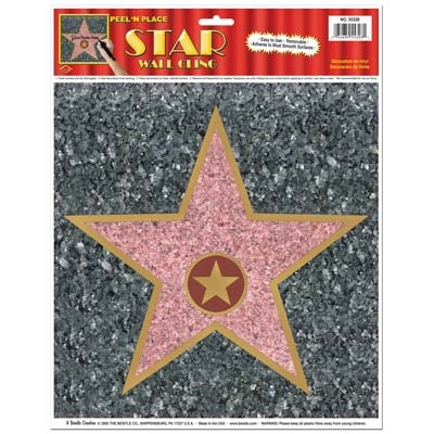 Hollywood Star Peel N Place Decal Partycheap