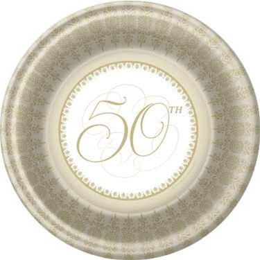 50th Anniversary Dessert Plates Partycheap