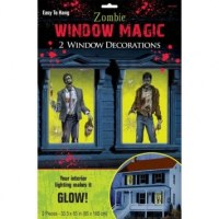 Zombie Window Decorations - PartyCheap