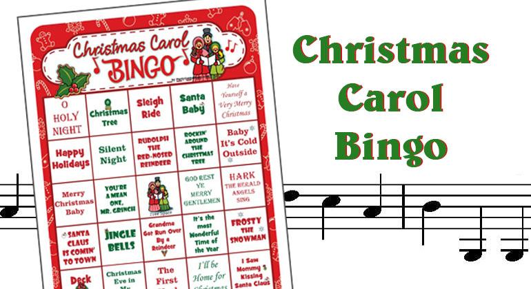 Christmas Carol Bingo - Printable Bingo Games