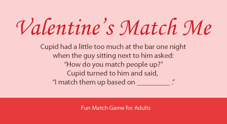 Valentine\u0027s Day Match Me - Printable Party Game