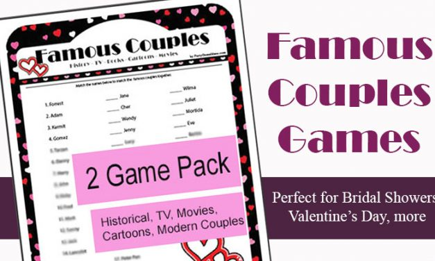Over 30 Bridal Shower Games and Couples Wedding Shower Games