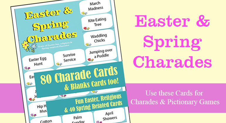 Printbale Easter Charades - Spring Charades Game