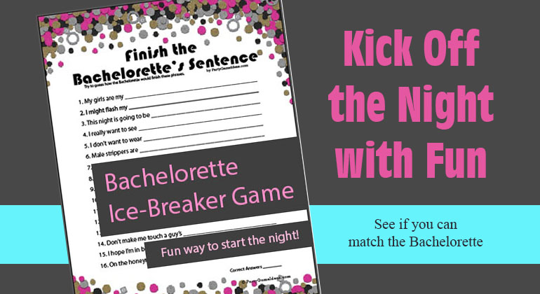 Finish the Bachelorette\u0027s Sentence - Printable Game