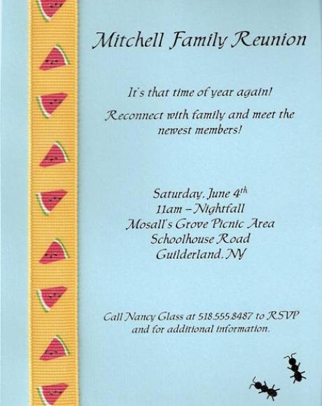 17  family reunion party invitations