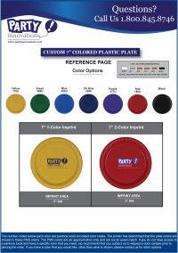 """Reference Sheet for 7"""" Colored Plastic Plates ..."""