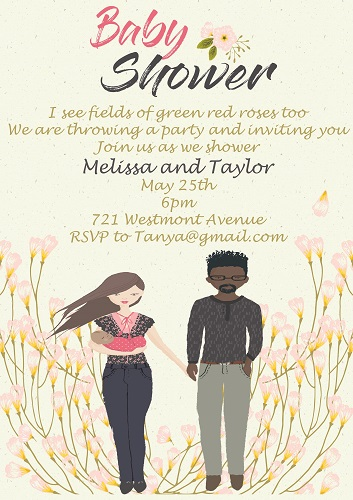 Baby Shower Invitations for Couples Summer 2018 - Partyinvitations