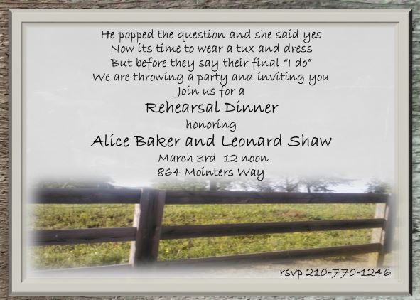 Sightly Country Fence Rehearsal Dinner Party Invitations Rehearsal Dinner Invitations New Selections Summer 2018 Rehearsal Dinner Invitations Wording Rehearsal Dinner Invitations Rustic invitations Rehearsal Dinner Invitations