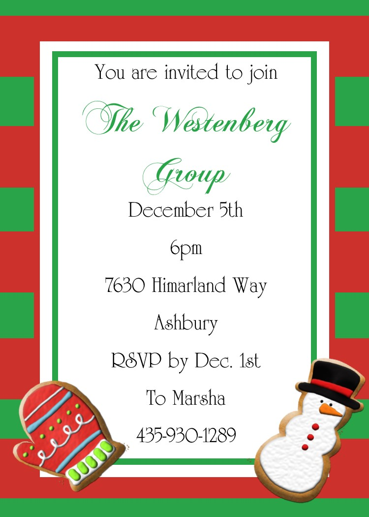 Ornament party invitations -  Christmas Party Invitations Download