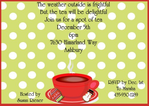 Medium Of Tea Party Invitations
