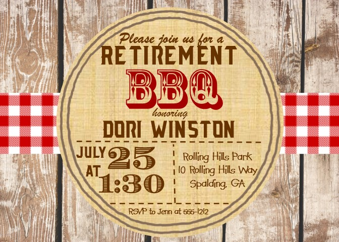 Barbecue Party Invitations- BBQ invitations NEW selections Spring 2019