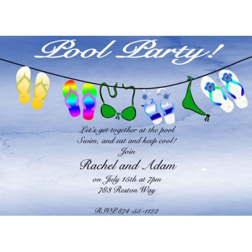 Medium Crop Of Pool Party Invitations