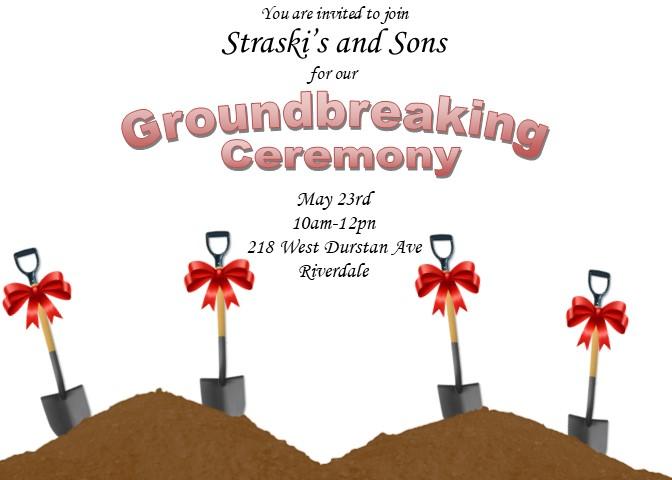groundbreaking invitation