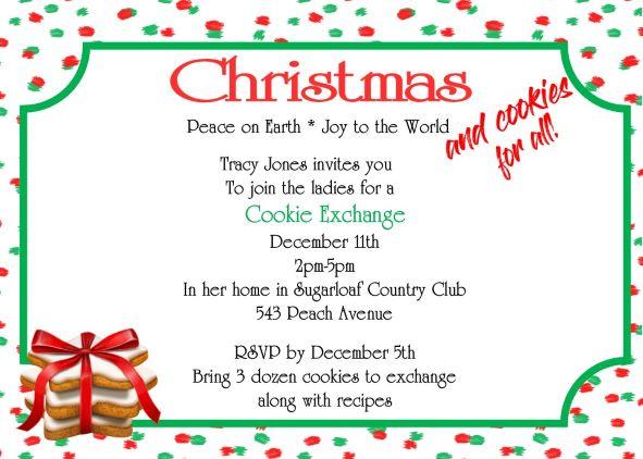 Cookie Swap Invitation Template Natashamillerweb