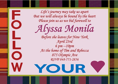 Going Away Party invitations NEW selections Spring 2019