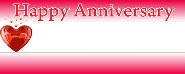 Happy Anniversary Personalised Banners Partyrama