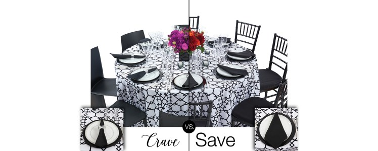 Party Rental Ltd - Crave vs. Save Black & White Scroll