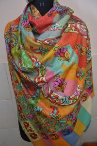 BREATHTAKING KASHMIR EMBROIDERED 100% CASHMERE PASHMINA