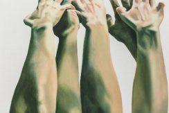 Marta Dell'Angelo, Varco, 2016 olio su tela, 80x80cm Foto di Elena Foresto