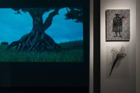 """Allestimento della mostra """"Una Forma di Attenzione"""" Foto di Dania Gennai"""