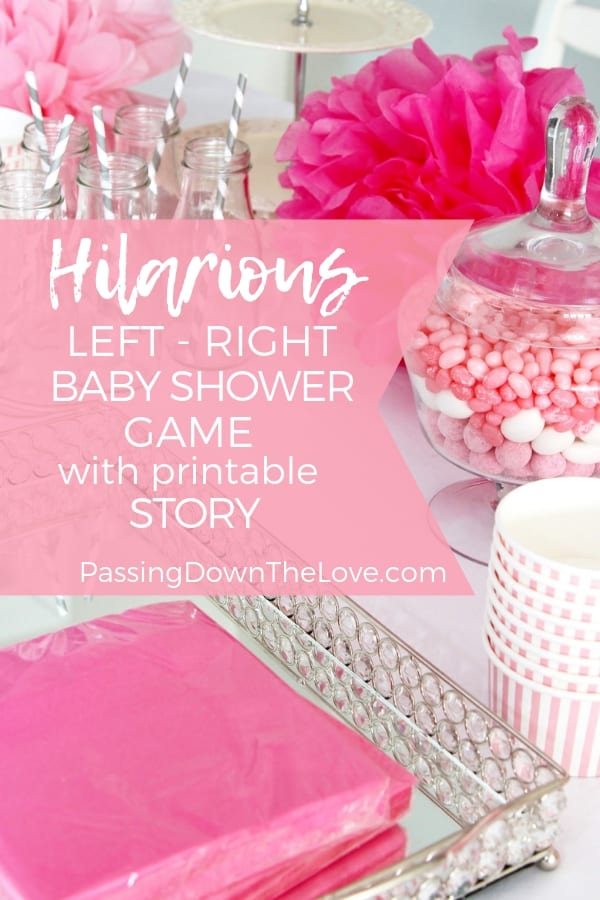 The Left Right Baby Shower Game for your Grandma Shower ⋆