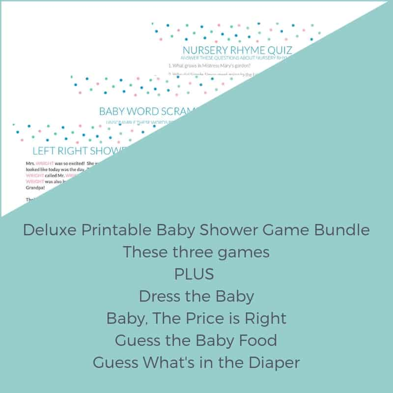 A Deluxe Printable Baby Shower Game Bundle ⋆ Passing Down the Love