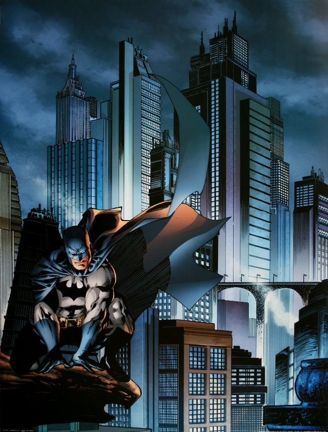 Christmas Wallpaper Gif Animations Dc Comics Gotham City I Batman 60 X 80 Cm