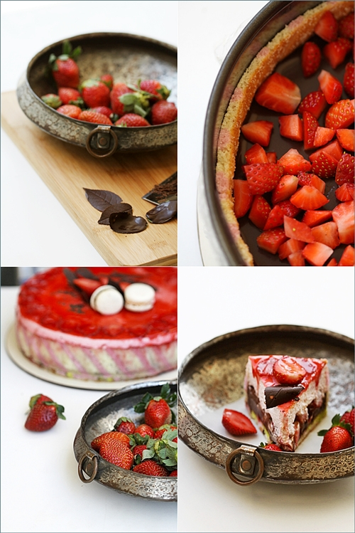 Biscuit Joconde Imprime / Entremet- Strawberry & Chocolate