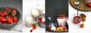 Strawberry & Tangerine Quark Panna Cotta