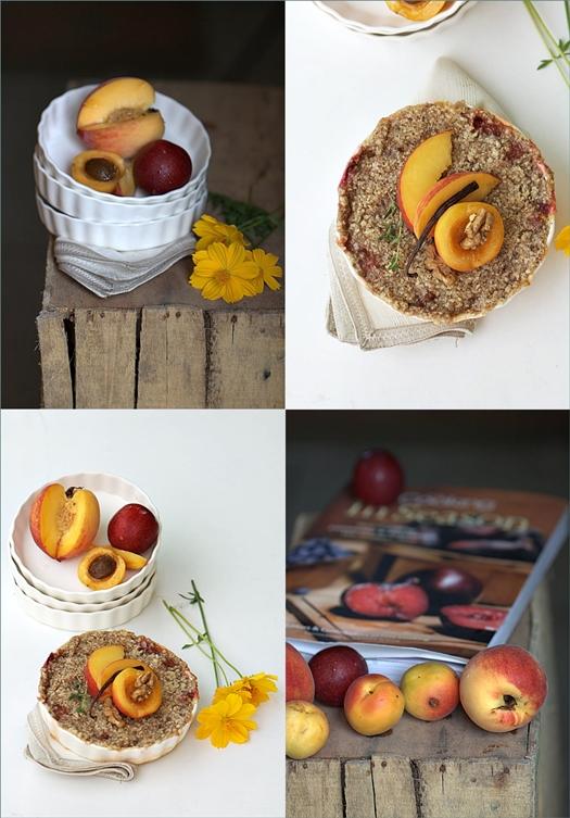 Peach, Plum & Apricot Streusel Crumble