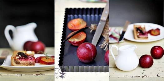 Vanilla Almond Frangipane Plum Tart