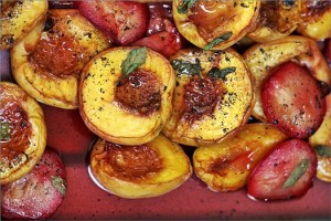 Roasted Peach & Plum Ice Cream