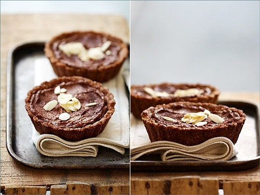 Chocolate Quark Mousse Tarts