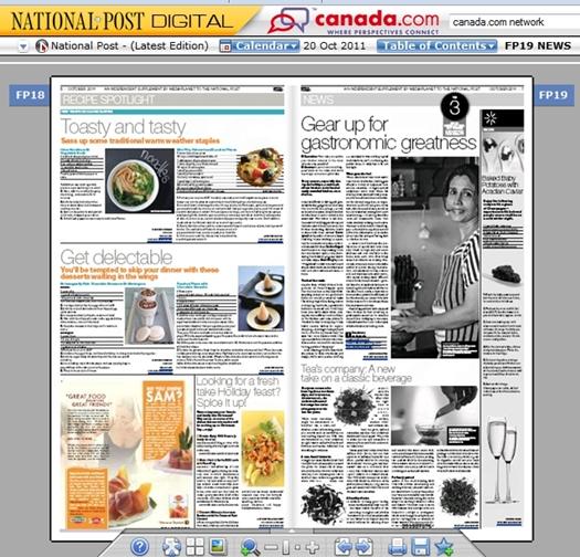 PAB on National Post Toronto, Oct 20, 2011