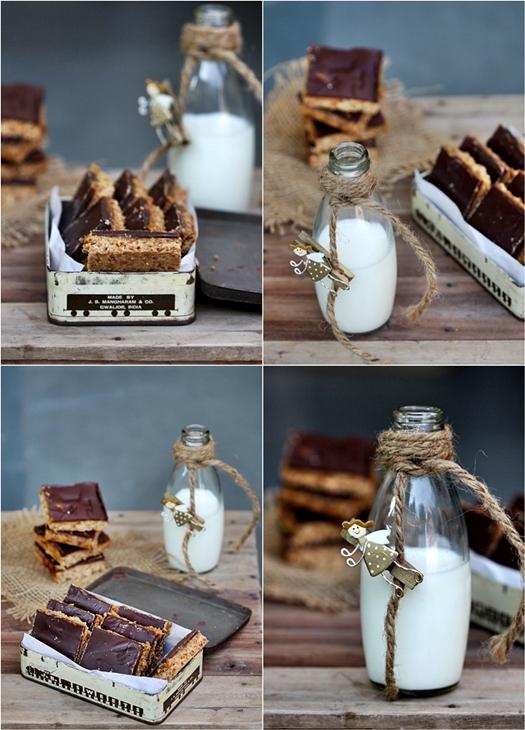 Dark Chocolate Caramel Oat & Almond Shortbread