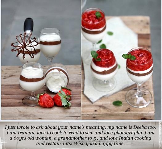 White & Dark Chocolate Dessert with Strawberries