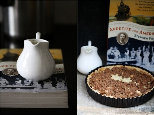 French Apple Pie with Nutmeg Sauce