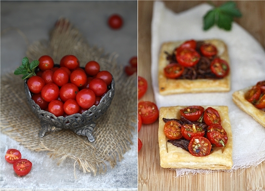 Cherry Tomato & Caramelised Onion Tartlettes