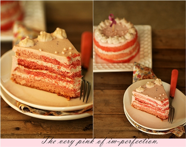 Almond Raspberry Quark Layered Cake
