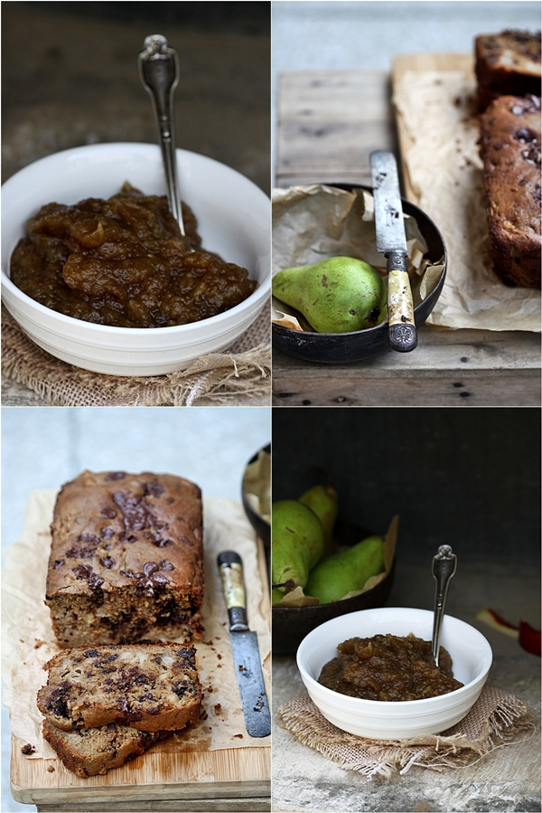 Chocolate-Pear Tea Bread