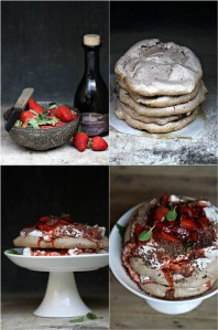 Double Chocolate Strawberry Pavlovas
